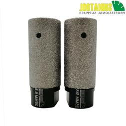 2pieces 25mm Vacuum Brazed Diamond Finger Bits With 5/8-11 T