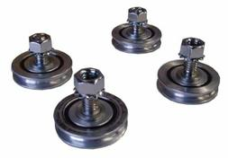 "4Pcs Carriage Tray Wheels 1-3/8"" For Husqvarna Tilematic Tar"
