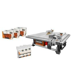 RIDGID 6.5 Amp Corded 7 in. Table Top Wet Tile Saw with Leve