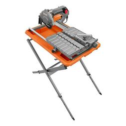 9 Amp Corded 7 in Wet Tile Saw with Stand Longevity Precisio
