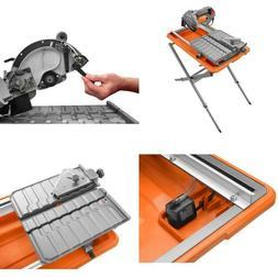 RIDGID  9 Amp Corded 7 in. Wet Tile Saw with Stand Tile Saw