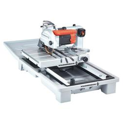 DIAMONDBACK 7 In. Heavy Duty Wet Tile Saw With Sliding Table