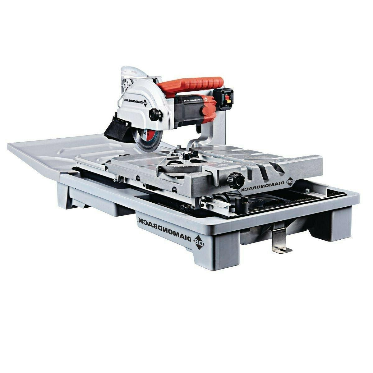 7 wet tile saw w sliding table