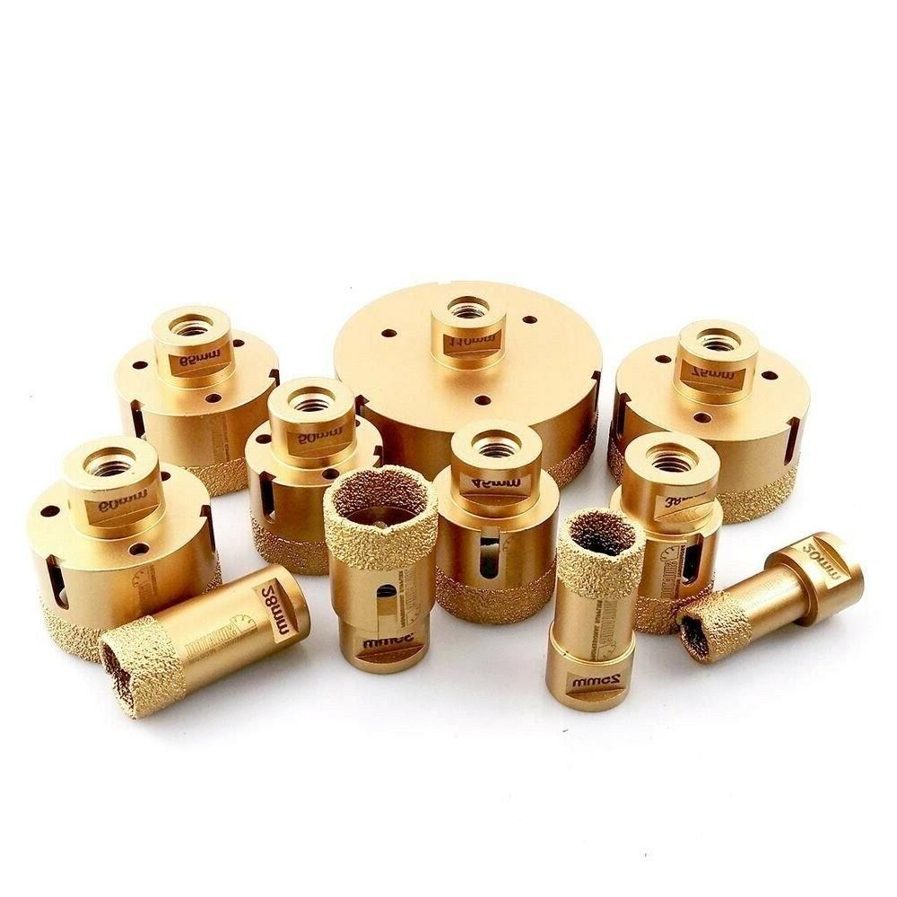 dry drilling core bits vacuum brazed thread