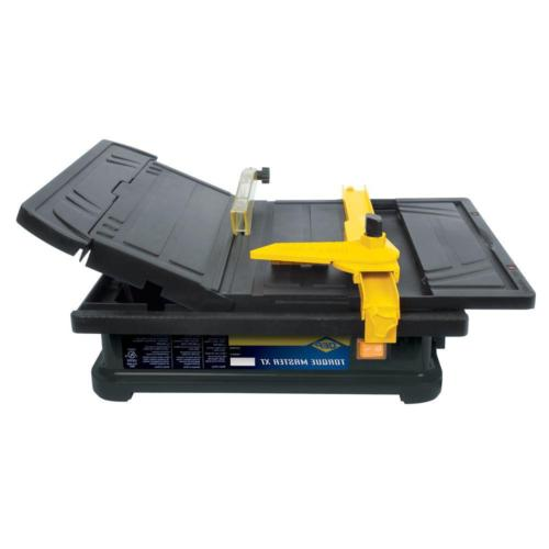 wet tile saw tilting table with water