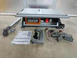 "NEW RIDGID 7"" Wet Tile Saw Model# R4021"