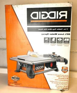 NEW Ridgid R4021 7 inch 6.5Ah Table Top Wet Tile Saw