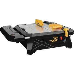 Portable Wet Tile Saw with 7 in Blade Table Extension Make S