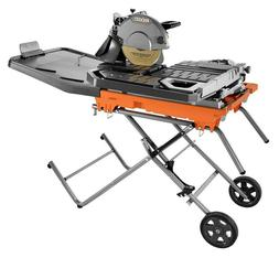 RIDGID Wet Tile Saw 10 in. Blade Laser Guide Beveling Head T