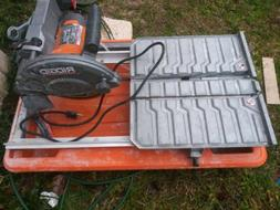 Wet Tile Saw RIDGID 7 Inch With Stand Corded Electric Alumin